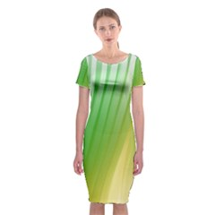Folded Paint Texture Background Classic Short Sleeve Midi Dress