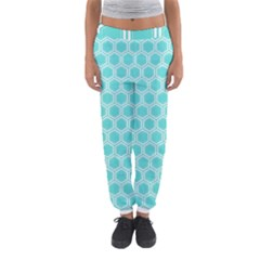 Plaid Circle Blue Wave Women s Jogger Sweatpants