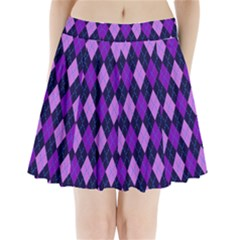 Plaid Triangle Line Wave Chevron Blue Purple Pink Beauty Argyle Pleated Mini Skirt