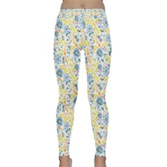 Flower Floral Bird Peacok Sunflower Star Leaf Rose Classic Yoga Leggings