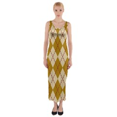 Plaid Triangle Line Wave Chevron Orange Red Grey Beauty Argyle Fitted Maxi Dress