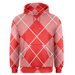 Plaid Triangle Line Wave Chevron Red White Beauty Argyle Men s Pullover Hoodie