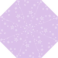 Star Lavender Purple Space Folding Umbrellas