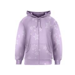 Star Lavender Purple Space Kids  Zipper Hoodie