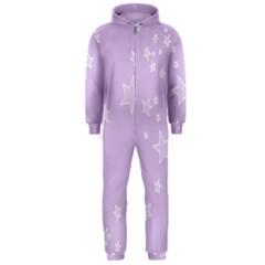 Star Lavender Purple Space Hooded Jumpsuit (Men)