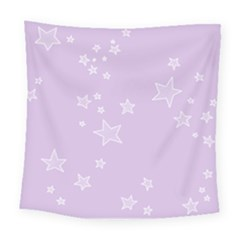 Star Lavender Purple Space Square Tapestry (large)