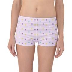 Star Rainbow Coror Purple Gold White Blue Boyleg Bikini Bottoms