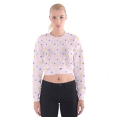 Star Rainbow Coror Purple Gold White Blue Women s Cropped Sweatshirt