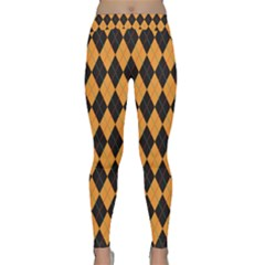 Plaid Triangle Line Wave Chevron Yellow Red Blue Orange Black Beauty Argyle Classic Yoga Leggings
