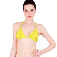 Star Rainbow Coror Purple Gold White Blue Yellow Bikini Top