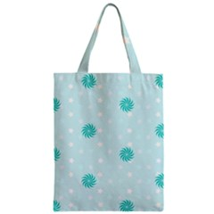 Star White Fan Blue Zipper Classic Tote Bag