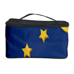 Starry Star Night Moon Blue Sky Light Yellow Cosmetic Storage Case