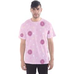 Star White Fan Pink Men s Sport Mesh Tee