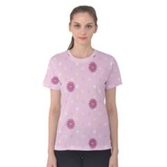 Star White Fan Pink Women s Cotton Tee