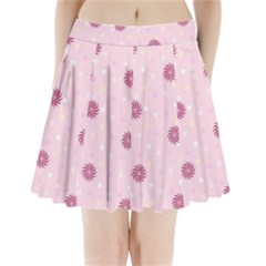 Star White Fan Pink Pleated Mini Skirt