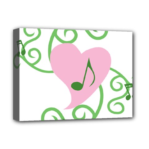 Sweetie Belle s Love Heart Music Note Leaf Green Pink Deluxe Canvas 16  x 12