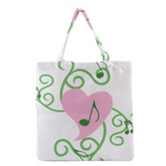 Sweetie Belle s Love Heart Music Note Leaf Green Pink Grocery Tote Bag