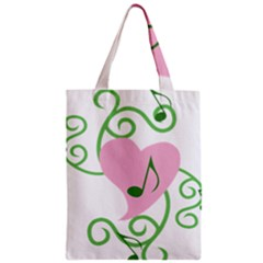 Sweetie Belle s Love Heart Music Note Leaf Green Pink Zipper Classic Tote Bag