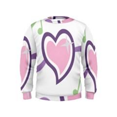 Sweetie Belle s Love Heart Star Music Note Green Pink Purple Kids  Sweatshirt