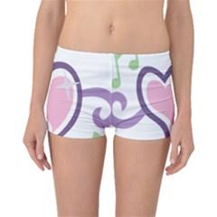 Sweetie Belle s Love Heart Star Music Note Green Pink Purple Boyleg Bikini Bottoms