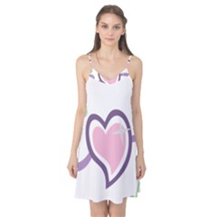 Sweetie Belle s Love Heart Star Music Note Green Pink Purple Camis Nightgown