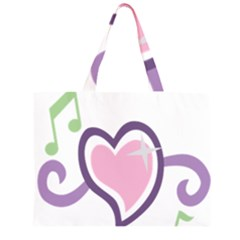 Sweetie Belle s Love Heart Star Music Note Green Pink Purple Large Tote Bag