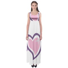 Sweetie Belle s Love Heart Star Music Note Green Pink Purple Empire Waist Maxi Dress