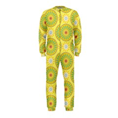 Sunflower Floral Yellow Blue Circle OnePiece Jumpsuit (Kids)