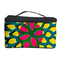 Sunflower Flower Floral Pink Yellow Green Cosmetic Storage Case