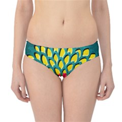 Sunflower Flower Floral Pink Yellow Green Hipster Bikini Bottoms