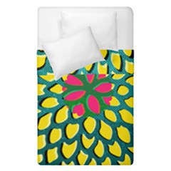 Sunflower Flower Floral Pink Yellow Green Duvet Cover Double Side (single Size)