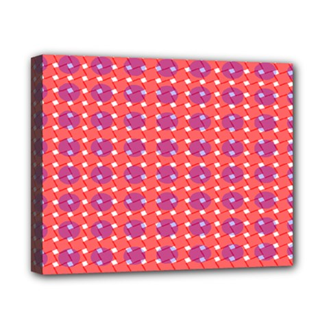 Roll Circle Plaid Triangle Red Pink White Wave Chevron Canvas 10  x 8