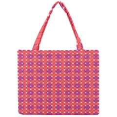 Roll Circle Plaid Triangle Red Pink White Wave Chevron Mini Tote Bag