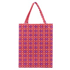 Roll Circle Plaid Triangle Red Pink White Wave Chevron Classic Tote Bag