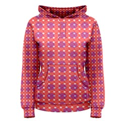 Roll Circle Plaid Triangle Red Pink White Wave Chevron Women s Pullover Hoodie