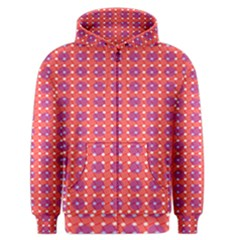 Roll Circle Plaid Triangle Red Pink White Wave Chevron Men s Zipper Hoodie