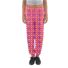 Roll Circle Plaid Triangle Red Pink White Wave Chevron Women s Jogger Sweatpants