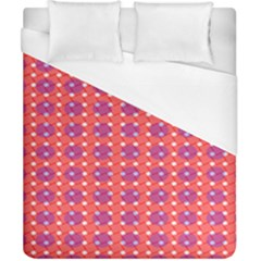 Roll Circle Plaid Triangle Red Pink White Wave Chevron Duvet Cover (california King Size)