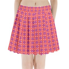 Roll Circle Plaid Triangle Red Pink White Wave Chevron Pleated Mini Skirt