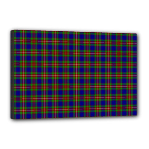 Tartan Fabrik Plaid Color Rainbow Canvas 18  x 12
