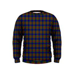 Tartan Fabrik Plaid Color Rainbow Kids  Sweatshirt
