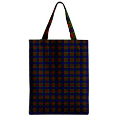 Tartan Fabrik Plaid Color Rainbow Zipper Classic Tote Bag