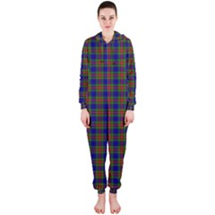 Tartan Fabrik Plaid Color Rainbow Hooded Jumpsuit (Ladies)