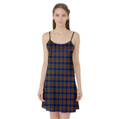 Tartan Fabrik Plaid Color Rainbow Satin Night Slip