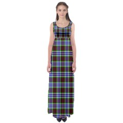 Tartan Fabrik Plaid Color Rainbow Triangle Empire Waist Maxi Dress