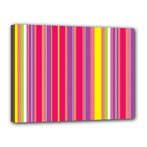 Stripes Colorful Background Canvas 16  x 12