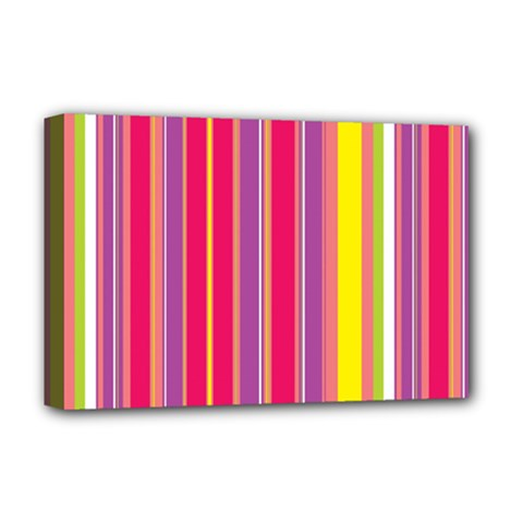 Stripes Colorful Background Deluxe Canvas 18  x 12