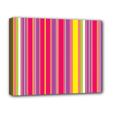 Stripes Colorful Background Deluxe Canvas 20  x 16