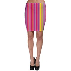 Stripes Colorful Background Bodycon Skirt