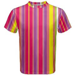 Stripes Colorful Background Men s Cotton Tee